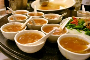 ChineseWeddingBanquet-SharkFinSoup-ServedInBowls